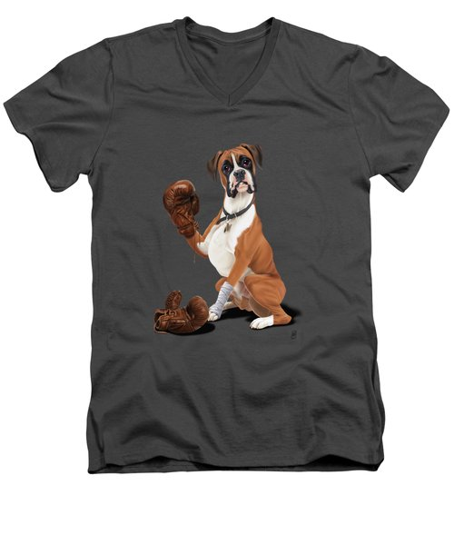 The Boxer Colour Men's V-Neck T-Shirt by Rob Snow