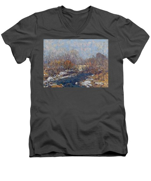The Bridge  Garfield Park  By William J  Forsyth Men's V-Neck T-Shirt