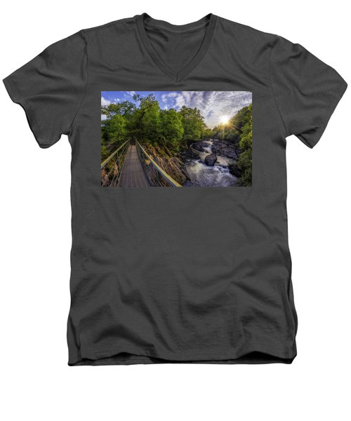 The Bridge To Summer Men's V-Neck T-Shirt by Ian Mitchell