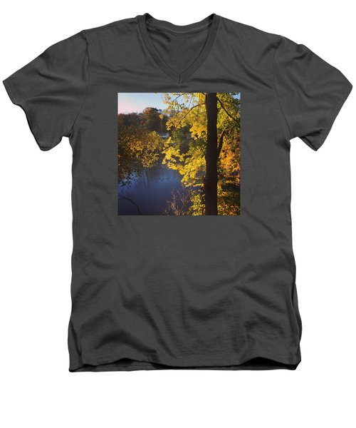 The Brilliance Of Nature Leaves Me Speechless Men's V-Neck T-Shirt by Jason Nicholas