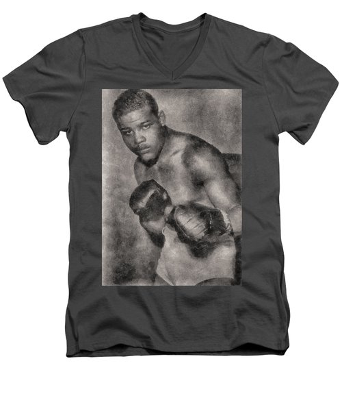 Men's V-Neck T-Shirt featuring the photograph The Brown Bomber by Joseph Hollingsworth