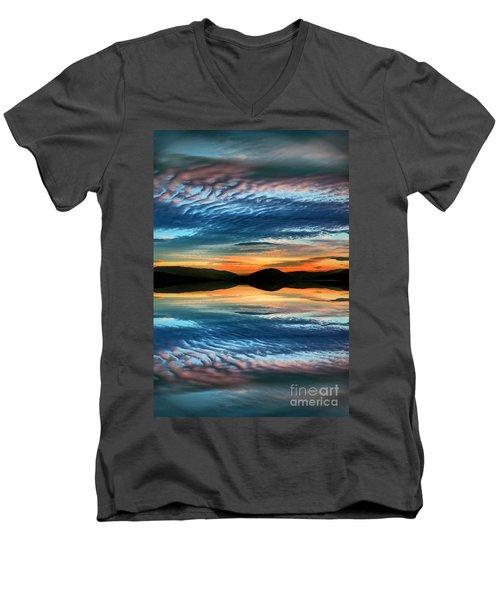 The Brush Strokes Of Evening Men's V-Neck T-Shirt