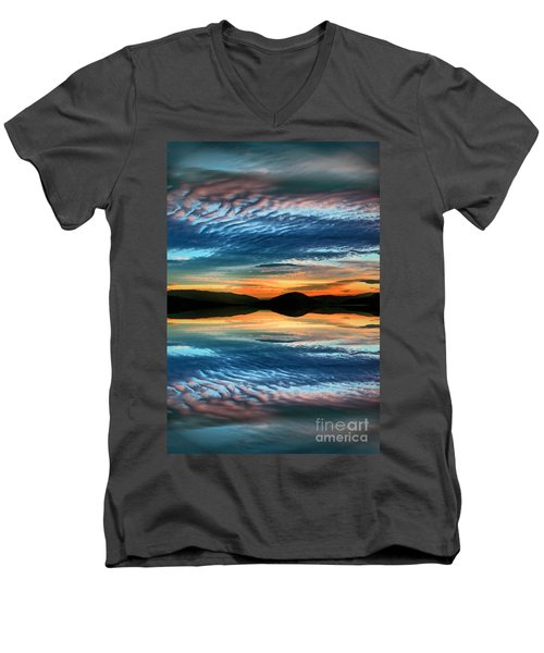 The Brush Strokes Of Evening Men's V-Neck T-Shirt by Tara Turner