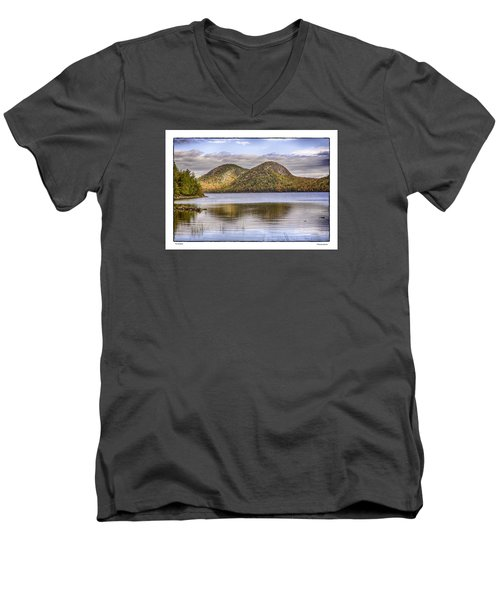 Men's V-Neck T-Shirt featuring the photograph The Bubbles by R Thomas Berner