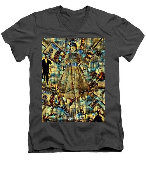 The Business Of Humans Men's V-Neck T-Shirt by Vennie Kocsis
