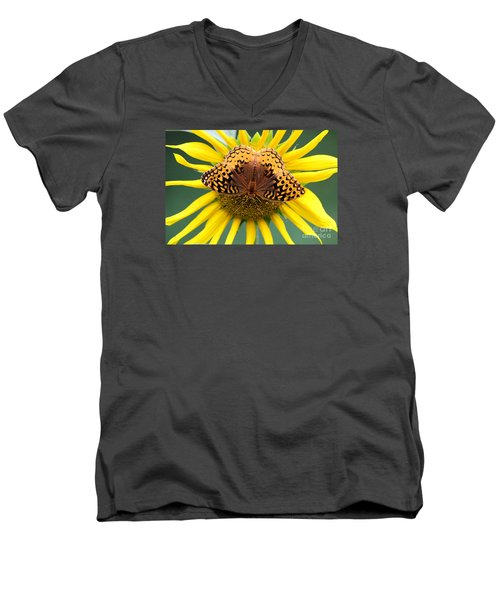 The Butterfly Effect Men's V-Neck T-Shirt by Tina  LeCour