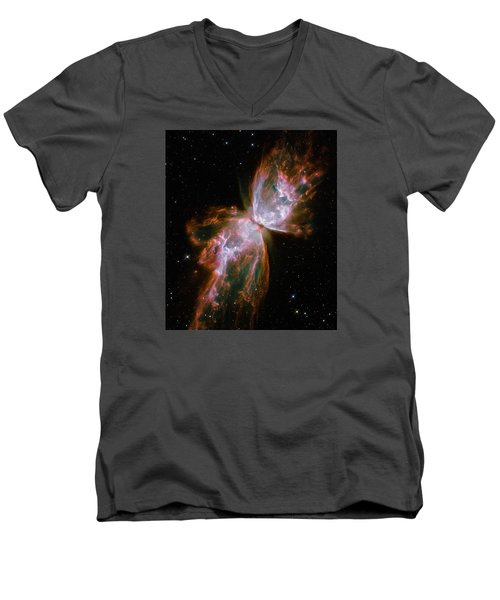 The Butterfly Nebula  Men's V-Neck T-Shirt