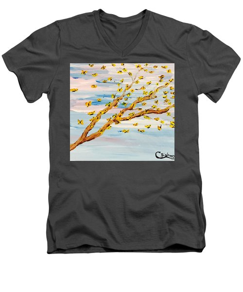 The Butterfly Tree Men's V-Neck T-Shirt