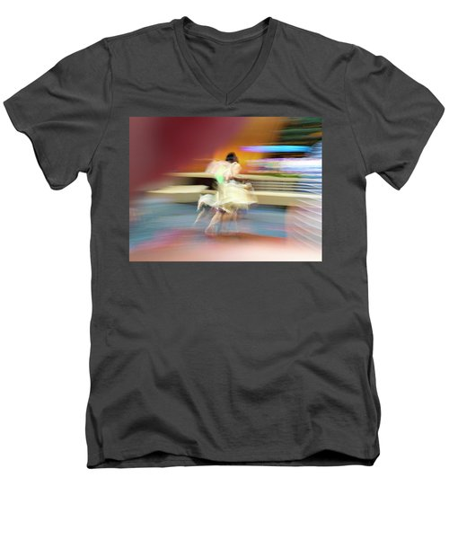 Men's V-Neck T-Shirt featuring the photograph The Butterfly Woman Of Andor by Alex Lapidus