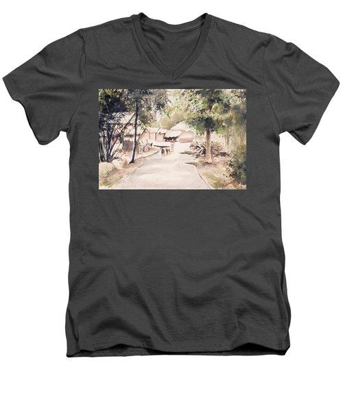 The Call Of Morning Men's V-Neck T-Shirt