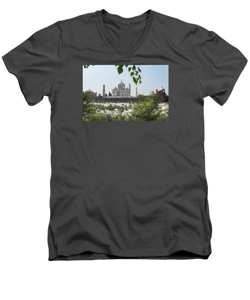 The Calm Behind The Taj Mahal Men's V-Neck T-Shirt
