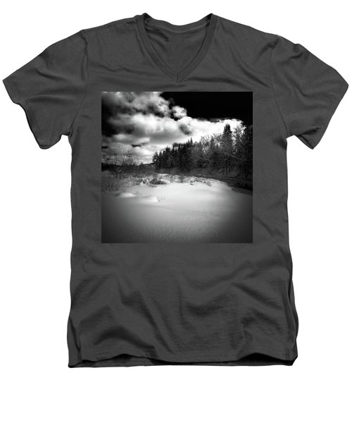Men's V-Neck T-Shirt featuring the photograph The Calm Of Winter by David Patterson