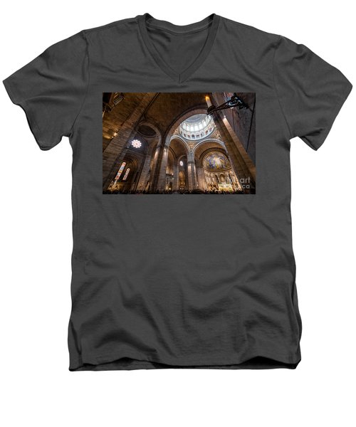 The Candle Men's V-Neck T-Shirt by Giuseppe Torre