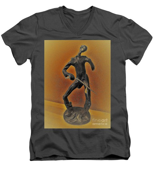 The Cane Man. Men's V-Neck T-Shirt