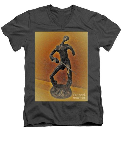 The Cane Man. Men's V-Neck T-Shirt