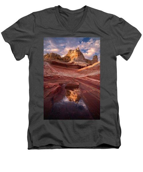 The Capital Men's V-Neck T-Shirt by Bjorn Burton