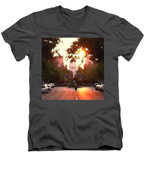 The Capitol In #sacramento #california Men's V-Neck T-Shirt