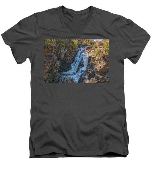 The Cascade Embrace Men's V-Neck T-Shirt