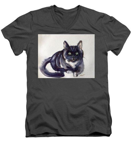 The Cat 8 Men's V-Neck T-Shirt