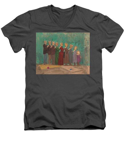 The Cat Family Portrait 1891  Men's V-Neck T-Shirt