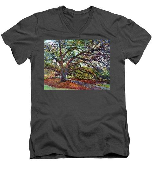 The Century Oak Men's V-Neck T-Shirt