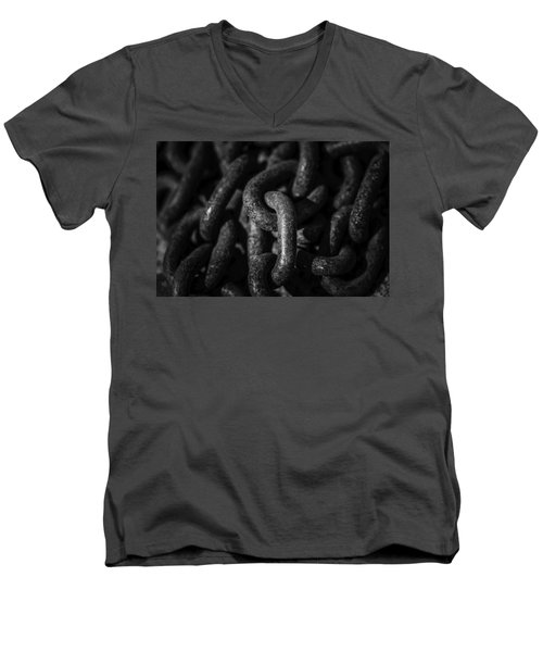 Men's V-Neck T-Shirt featuring the photograph The Chains That Bind Us by Jason Moynihan
