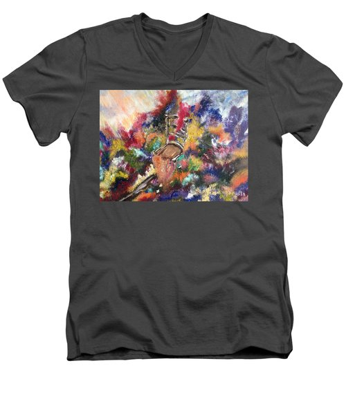 Men's V-Neck T-Shirt featuring the painting The Chair  by Lori Lovetere