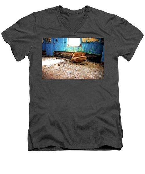 Men's V-Neck T-Shirt featuring the photograph The Chair by Randall Cogle