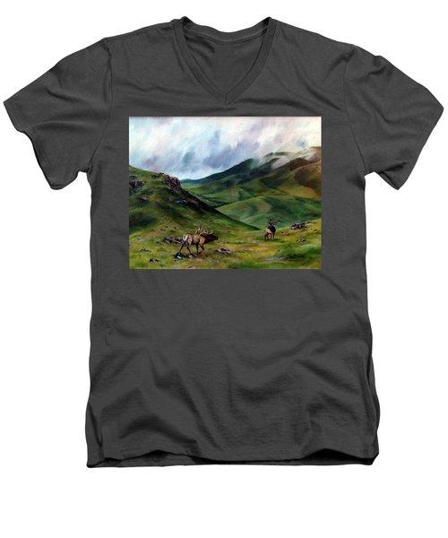 The Challenger Men's V-Neck T-Shirt