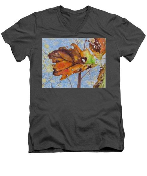 Changes Men's V-Neck T-Shirt by Pamela Clements