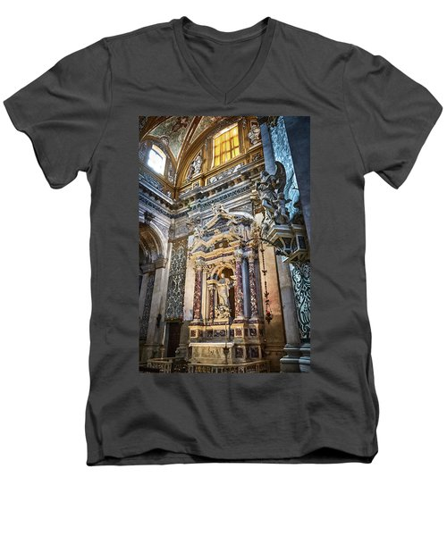 The Chapel Of Ignatius Of Loyola Men's V-Neck T-Shirt