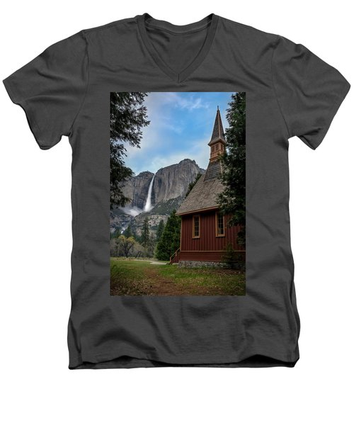 The Chapel Men's V-Neck T-Shirt by Sean Foster