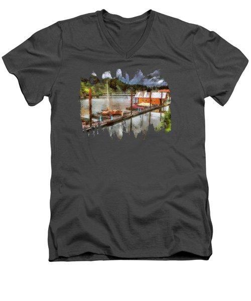 The Charming Port Of Toledo Men's V-Neck T-Shirt