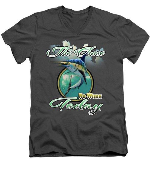 The Chase Logo Men's V-Neck T-Shirt