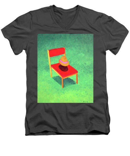 The Chat Men's V-Neck T-Shirt by Thomas Blood