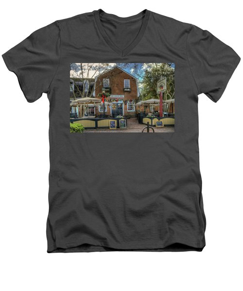 The Cheese Shop Men's V-Neck T-Shirt by Jerry Gammon