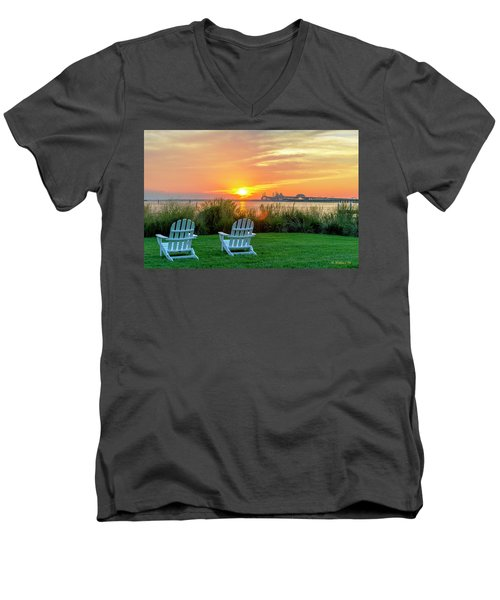 The Chesapeake Men's V-Neck T-Shirt by Brian Wallace