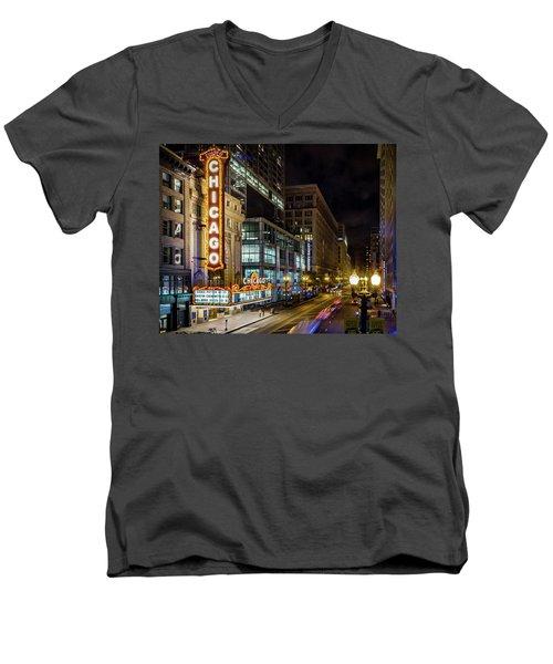 Illinois - The Chicago Theater Men's V-Neck T-Shirt