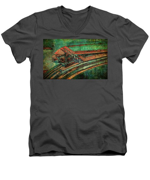 Men's V-Neck T-Shirt featuring the digital art The Chief by Greg Sharpe