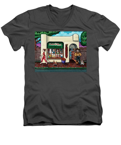 The Chile Shop Santa Fe Men's V-Neck T-Shirt