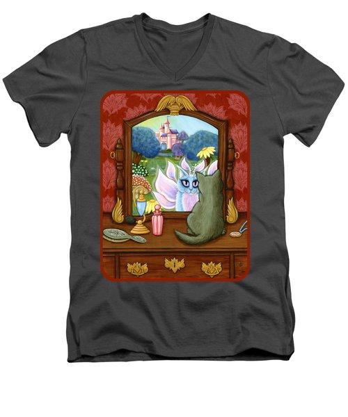 The Chimera Vanity - Fantasy World Men's V-Neck T-Shirt