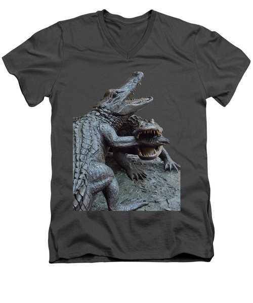 The Chomp Transparent For Customization Men's V-Neck T-Shirt