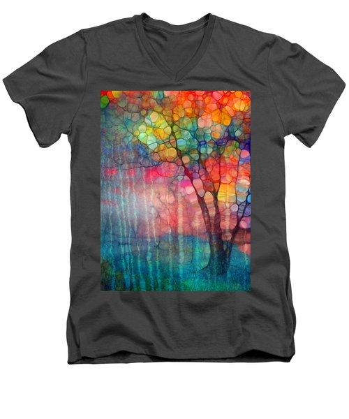 The Circus Tree Men's V-Neck T-Shirt by Tara Turner