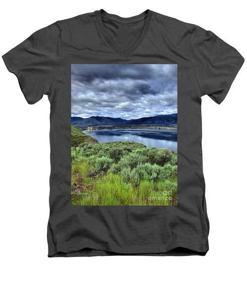 The City And The Clouds Men's V-Neck T-Shirt
