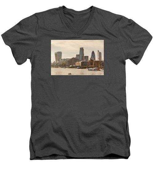 The City At Dusk Men's V-Neck T-Shirt