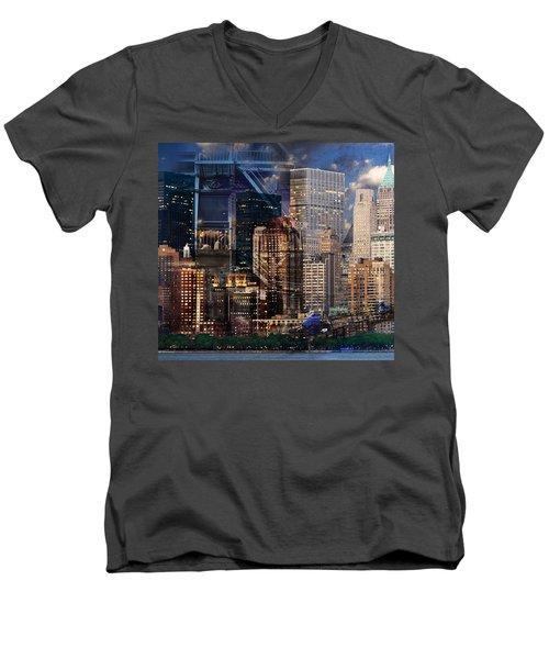 The City Men's V-Neck T-Shirt
