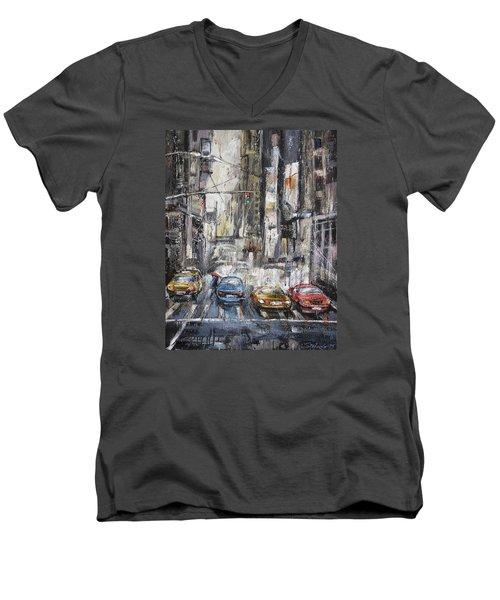 The City Rhythm Men's V-Neck T-Shirt
