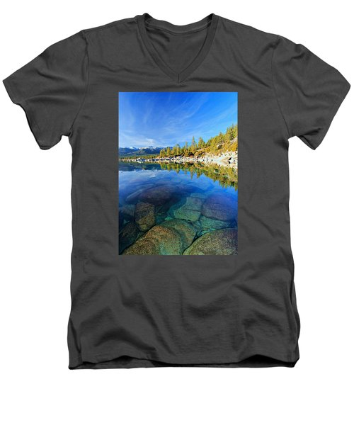 The Clarity Of Lake Tahoe Men's V-Neck T-Shirt