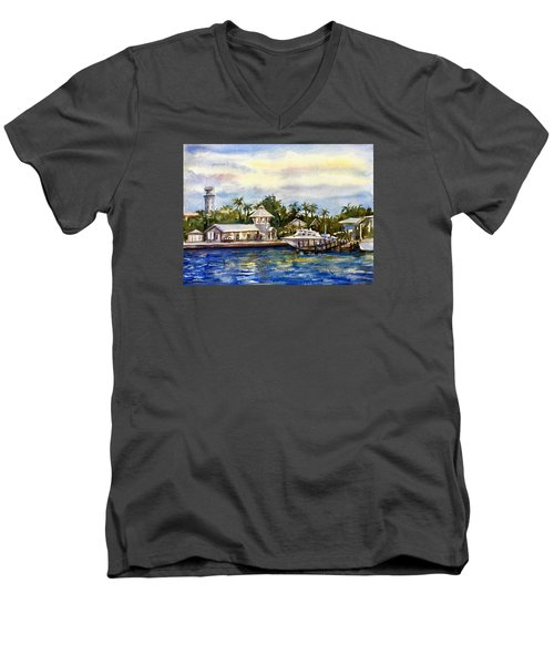 The Coast Of Nassau Men's V-Neck T-Shirt