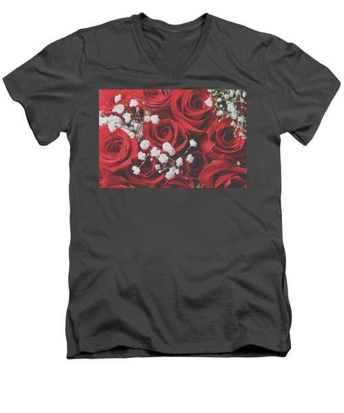 Men's V-Neck T-Shirt featuring the photograph The Color Of Love by Laurie Search